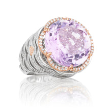 Load image into Gallery viewer, Tacori Lilac Blossoms Pavé Crescent Tower Ring SR111P13_10