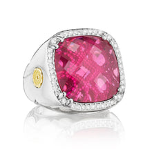 Load image into Gallery viewer, Tacori City Lights Pavé Cushion Gem Ring SR14734_10