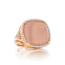 Load image into Gallery viewer, Tacori Moon Rosé Pavé Cushion Cabochon Ring SR165P36_10
