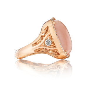 Tacori Moon Rosé Pavé Cushion Cabochon Ring SR165P36_10
