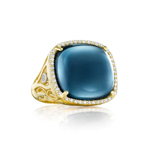 Tacori Golden Bay Pavé Cushion Cabochon Ring SR165Y37_10