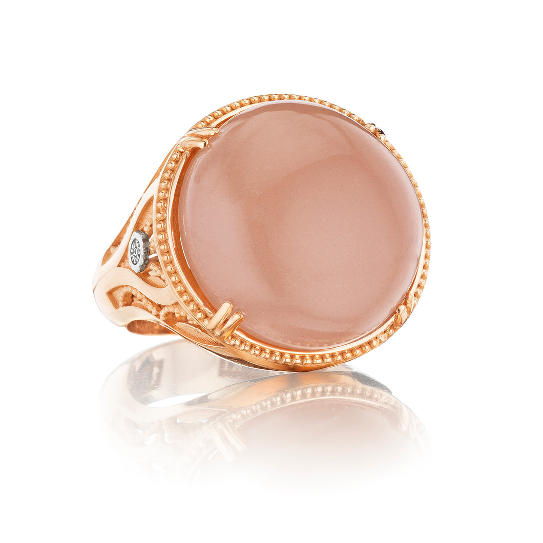 Tacori Moon Rosé Gold Round Gem Ring SR166P36_10