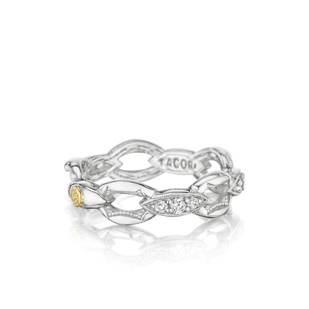 Tacori The Ivy Lane Pavé Crescent Links Ring SR184_10