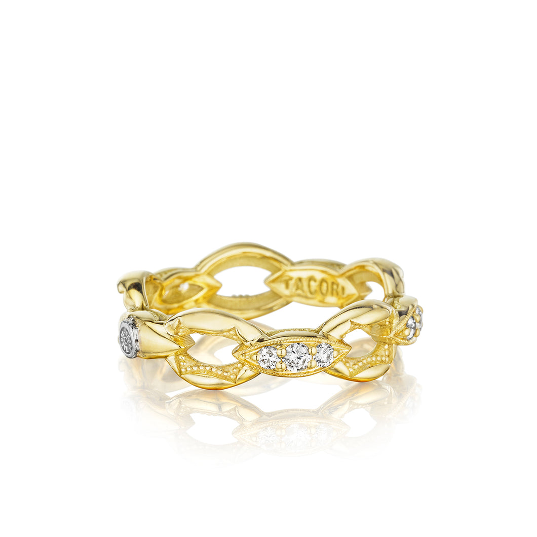 Tacori The Ivy Lane Pavé Crescent Links Ring SR184Y_10