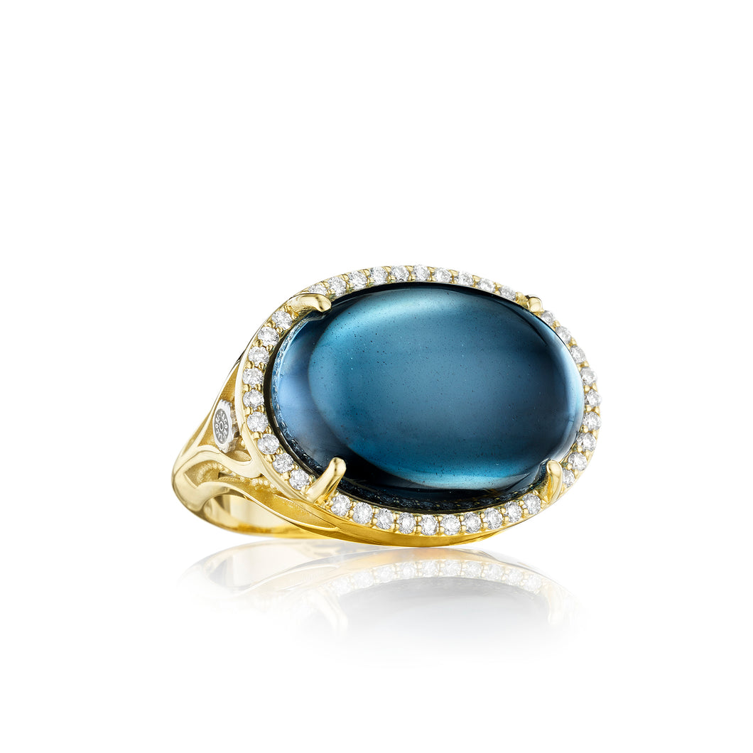 Tacori Golden Bay Pavé Oval Cabochon Ring SR187Y37_10