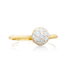 Load image into Gallery viewer, Tacori Sonoma Mist Petite Pavé Dew Drop Ring SR189Y_10