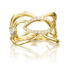 Load image into Gallery viewer, Tacori The Ivy Lane Crescent Trellis Ring SR202Y_10