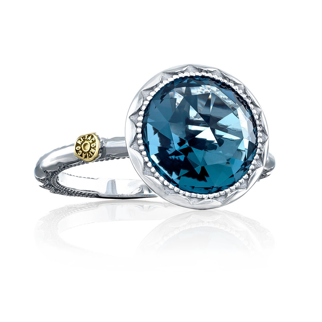 Tacori Crescent Bezel Ring featuring London Blue Topaz sr22233