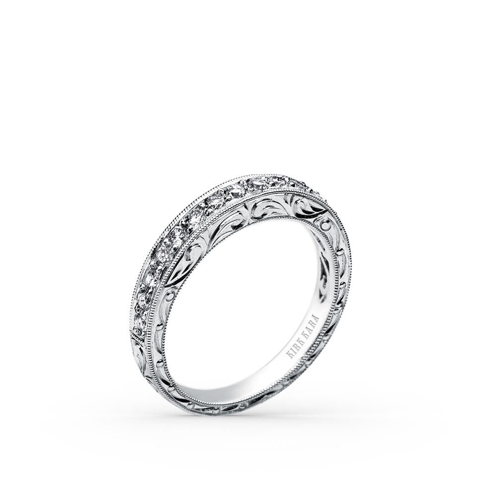 KirkKara Charlotte  Diamond Wedding Band SS6636-BS