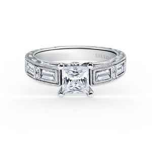 KirkKara Charlotte Princess Diamond Diamond Engagement Ring