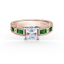 Load image into Gallery viewer, KirkKara Charlotte Princess Diamond Diamond Engagement Ring