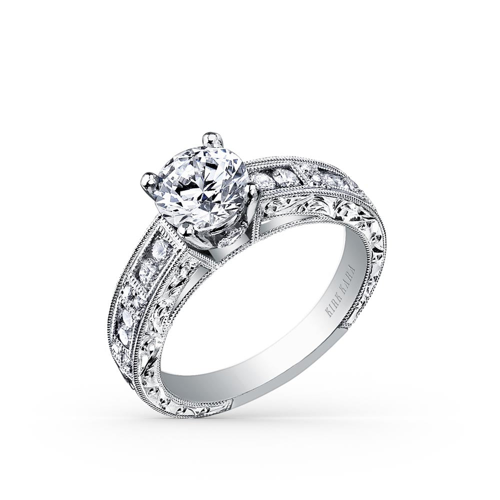 KirkKara Charlotte Round Diamond Diamond Engagement Ring