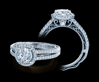 Verragio Venetian Round Diamond Engagement Ring (0.35 CTW)