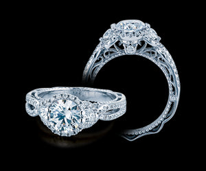 Verragio Venetian Round Diamond Engagement Ring (0.55 CTW)