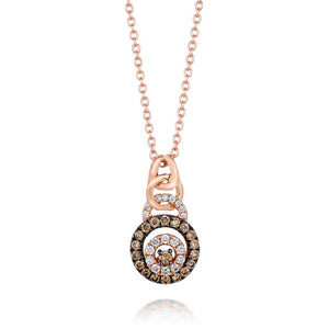 Le Vian® Chocolate by Petite Le Vian® Strawberry Gold® Pendant