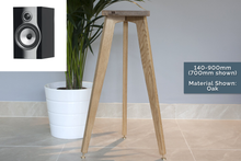 Load image into Gallery viewer, B&W 706 S2 Solid Oak Speaker Stands, Designed Specifically
