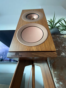 Walnut Speaker Stands Designed Specifically For KEF R3's