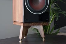 Load image into Gallery viewer, The Compact Snipe Tri-Leg Bookshelf Speaker Stands 120mm (Pair) - AUDIO CHIC