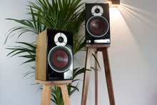 Load image into Gallery viewer, Two Audio Chic speaker stands with speaker spikes and shoes for audio enhancement