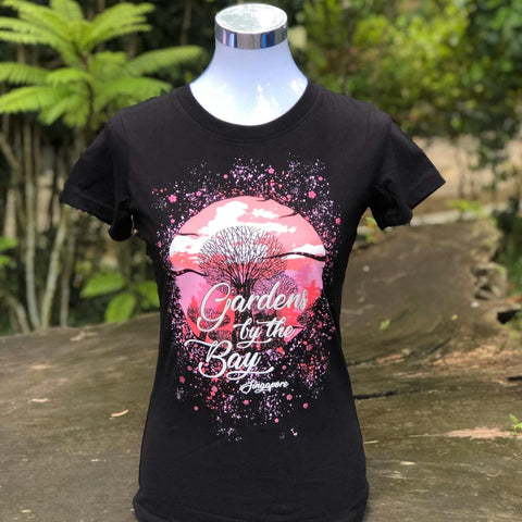 Merchandise Collection - Ready to Wear - Family T-Shirt - Supertrees Splatter Ladies T-Shirt (Black)