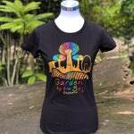 Merchandise Collection - Ready to Wear - Family T-Shirt - City in a Garden Lines Ladies T-Shirt (Black)