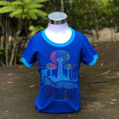 Merchandise Collection - Ready to Wear - Family T-Shirt - City in a Garden Lines Kids T-Shirt (Royal Blue)
