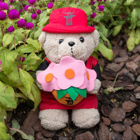 Gardens by the Bay - Merchandise Collection - Children - Gardens Bear - Precious Peggy with Flower (10 inch)