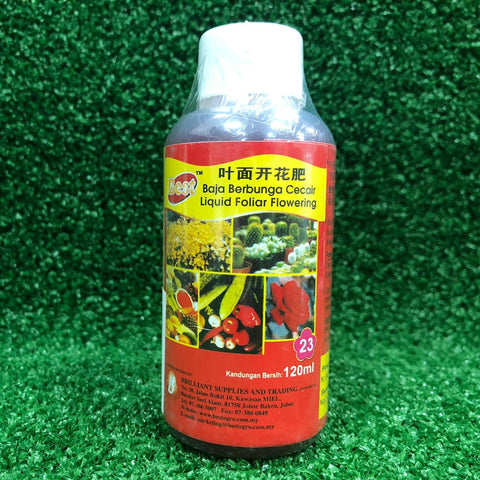 Gardens by the Bay - Gardening Supplies - BEST Liquid Foliar 23 Flowering (120ml)-Cropped