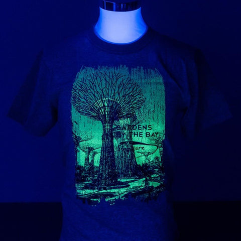 Gardens by the Bay - Glow-in-the-dark T-Shirt Collection - BRONZE SUPERTREES GLOW MEN'S T-SHIRT (GREY)