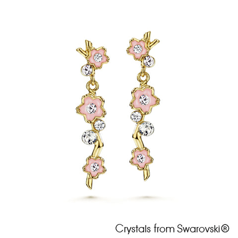 Gardens by the Bay - Costume Jewellery Collection - Blossom Earrings made with SWAROVSKI® Crystals - Rose color