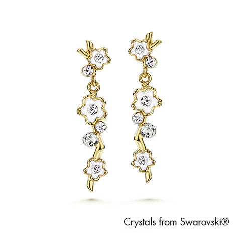 Gardens by the Bay - Costume Jewellery Collection - Blossom Earrings made with SWAROVSKI® Crystals
