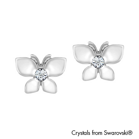 Gardens by the Bay - Costume Jewellery Collection - Butterfly Earrings made with SWAROVSKI® Crystals