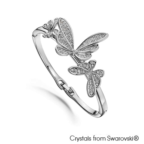Gardens by the Bay - Costume Jewellery Collection - Butterfly dance Bangle made with SWAROVSKI® Crystals