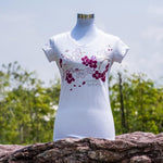Gardens by the Bay - Ladies' Rhinestone T-Shirt Collection - CONSERVATORYWITHSAKURALADIES_T-SHIRT_WHITE