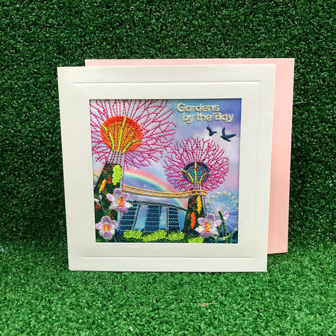 Gardens by the Bay - Merchandise Collection - Stationeries - Greeting Card - City in a Garden Rainbow Embroidered Greeting Card