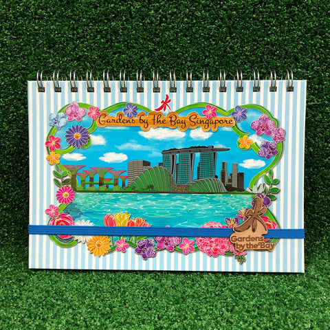 Gardens by the Bay - Merchandise Collection - Stationeries - Sustainable Wood Stationeries - City in a Garden with Singapore's Skyline A5 Notebook