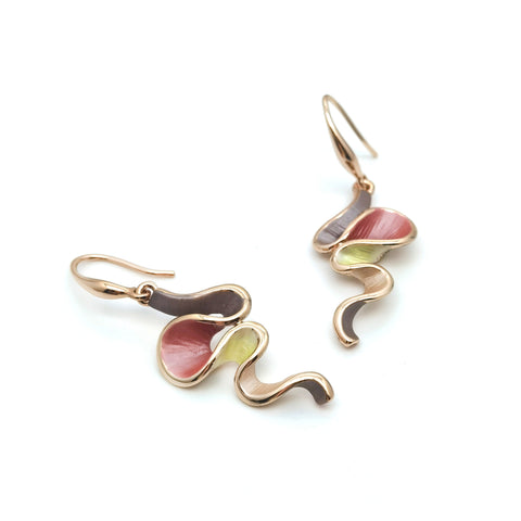 Gardens by the Bay - Fashion Costume Jewellery - Colorful Wavy Earrings