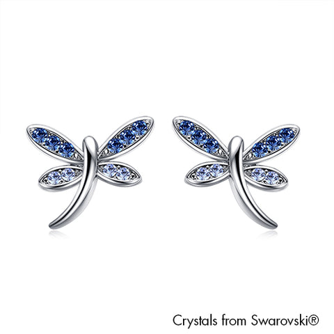 Gardens by the Bay - Costume Jewellery Collection - Dragonfly Earrings made with SWAROVSKI® CrystalDragonfly Earrings made with SWAROVSKI® Crystals - Sapphire color