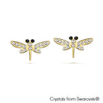 Gardens by the Bay - Costume Jewellery Collection - Dragonfly Earrings made with SWAROVSKI® Crystals