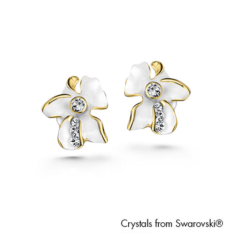 Gardens by the Bay - Costume Jewellery Collection - Floral Earrings made with SWAROVSKI® Crystals