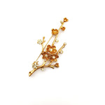 Gardens by the Bay - Fashion Costume Jewellery - Elegant  Sakura Brooch - Gold color