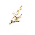 Gardens by the Bay - Fashion Costume Jewellery - Elegant Sakura Brooch - White color