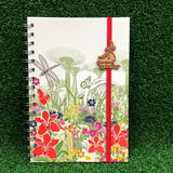 Gardens by the Bay - Merchandise Collection - Stationeries - Sustainable Wood Stationeries - Floral Gardens A5 Notebook