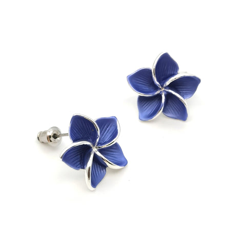 Gardens by the Bay - Fashion Costume Jewellery -  Frangipani Earrings
