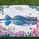 Gardens by the Bay - Floral Collection - GARDENS BY THE BAY MARINE WITH FLORAL TEA TOWEL