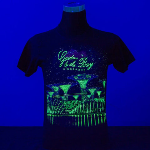 Gardens by the Bay - Glow-in-the-dark T-Shirt Collection - GARDENS SCENERY GALAXY GLOW MEN'S T-SHIRT (NAVY)