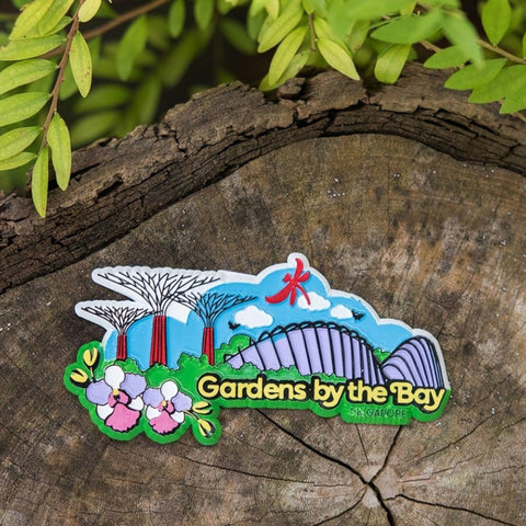 Gardens by the Bay - Rubberised Foil Magnet Collection - GARDENSSCENERYRUBBERISEDMAGNET