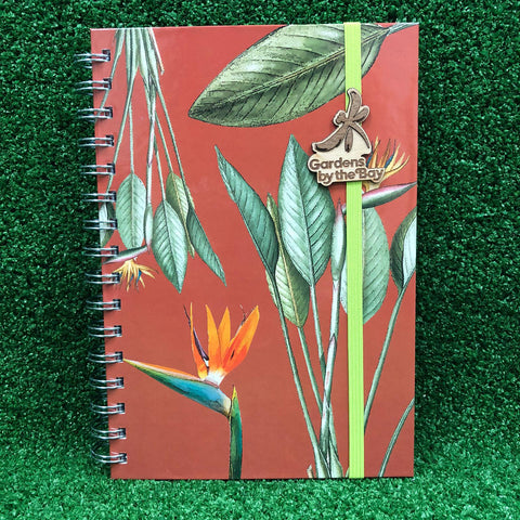 Gardens by the Bay - Merchandise Collection - Stationeries - Sustainable Wood Stationeries - Gardens Birds of Paradise A5 Notebook