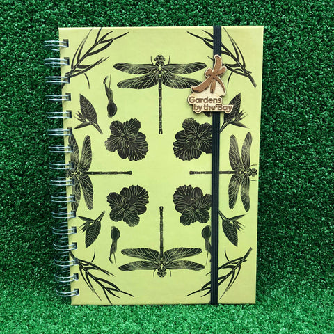 Gardens by the Bay - Merchandise Collection - Stationeries - Sustainable Wood Stationeries - Gardens Dragonfly Botanical A5 Notebook