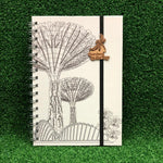 Gardens by the Bay - Merchandise Collection - Stationeries - Sustainable Wood Stationeries - Gardens Scenery A5 Notebook
